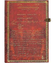 Записник Paperblanks Наполеон - 250 років / середній Лінійка
