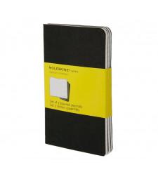 Набір зошитів Moleskine Cahier кишеньковий Клітинка Чорний