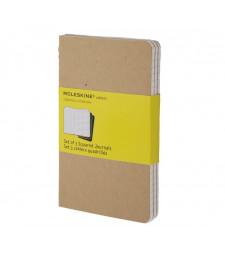 Набір зошитів Moleskine Cahier кишеньковий Клітинка Беж
