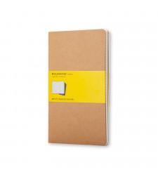 Набір зошитів Moleskine Cahier середній Клітинка Беж