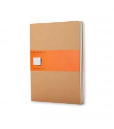 Набір зошитів Moleskine Cahier великий Лінійка Беж