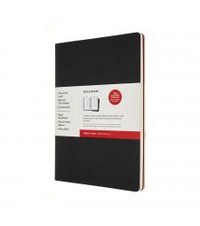 Набір зошитів Moleskine Cahier Subject А4 Чорний / Бордо