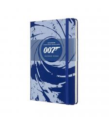 Записник Moleskine James Bond середній Лінійка Синій