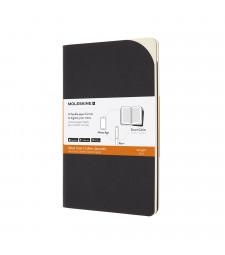 Набір Зошитів Moleskine Smart Cahier Середній Лінійка Чорний