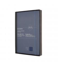 Записник Moleskine Classic Leather середній Лінійка Синій