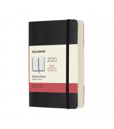 Щоденник Moleskine 2020 кишеньковий Чорний М'який