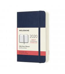 Щоденник Moleskine 2020 кишеньковий Сапфір М'який