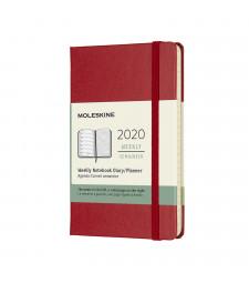 Щотижневик Moleskine 2020 кишеньковий Червоний