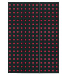 Записник Paper-Oh Quadro B5 Лінійка Чорний на Червоному