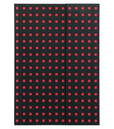 Записник Paper-Oh Quadro B6 Лінійка Чорний на Червоному