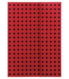 Записник Paper-Oh Quadro B6 Лінійка Червоний на Чорному