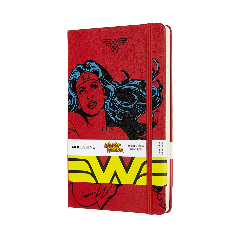 Записник Moleskine Wonder Woman середній / Лінійка Червоний
