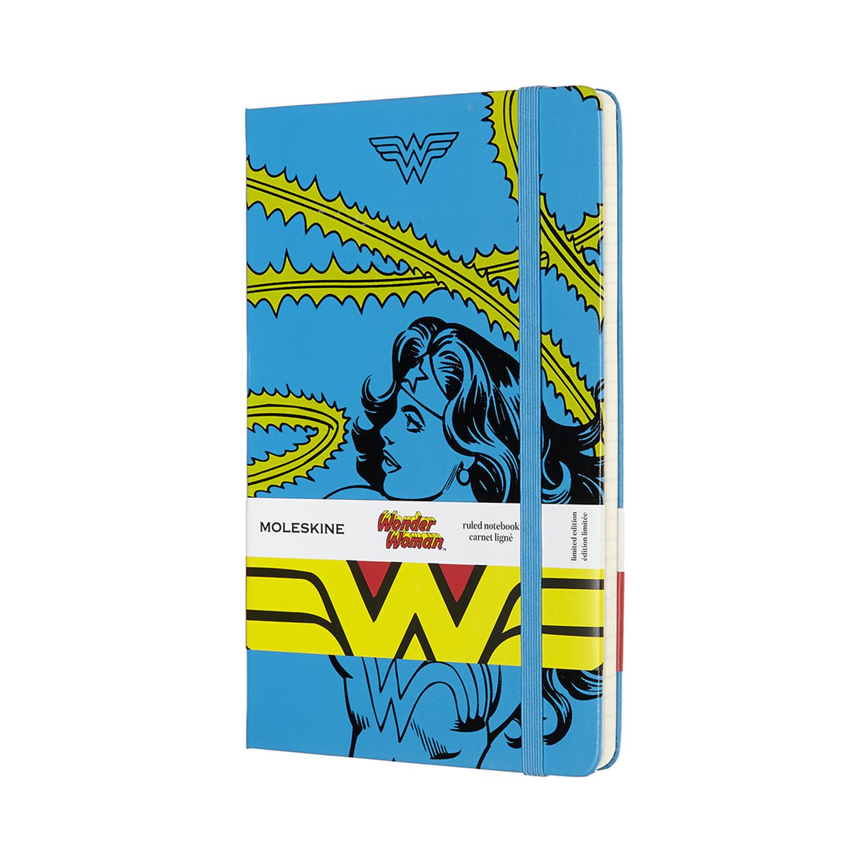 Записник Moleskine Wonder Woman середній / Лінійка Блакитний