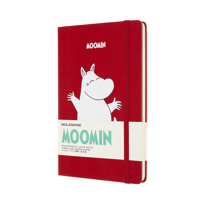 Записник Moleskine Moomin середній / Лінійка Червоний