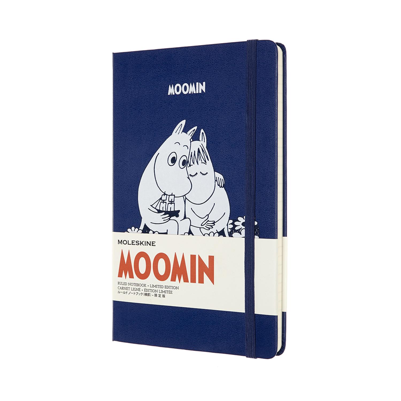 Записник Moleskine Moomin середній / Лінійка Синій