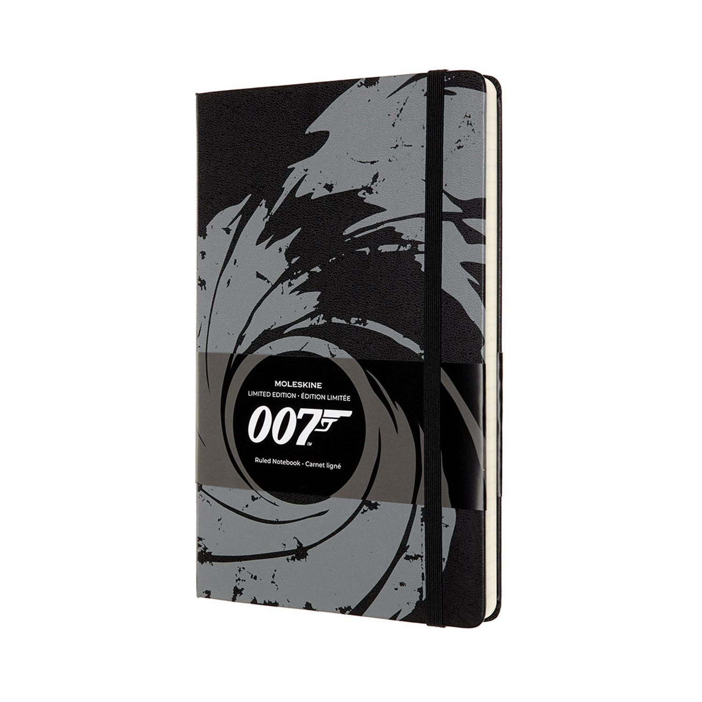 Записник Moleskine James Bond середній / Лінійка Чорний