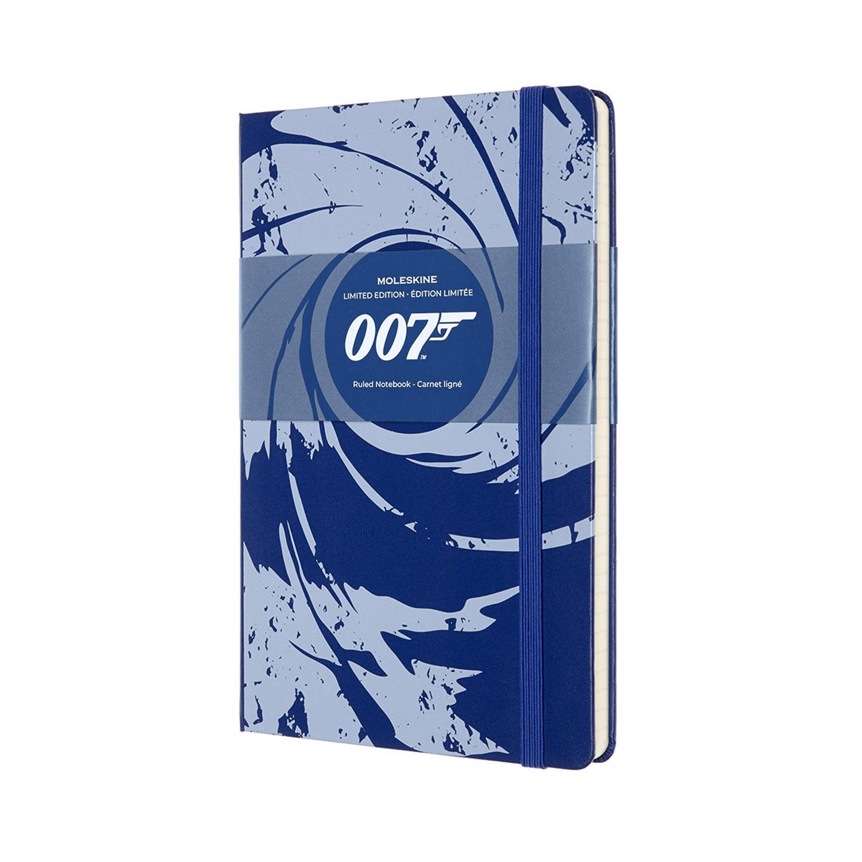 Записник Moleskine James Bond середній / Лінійка Синій