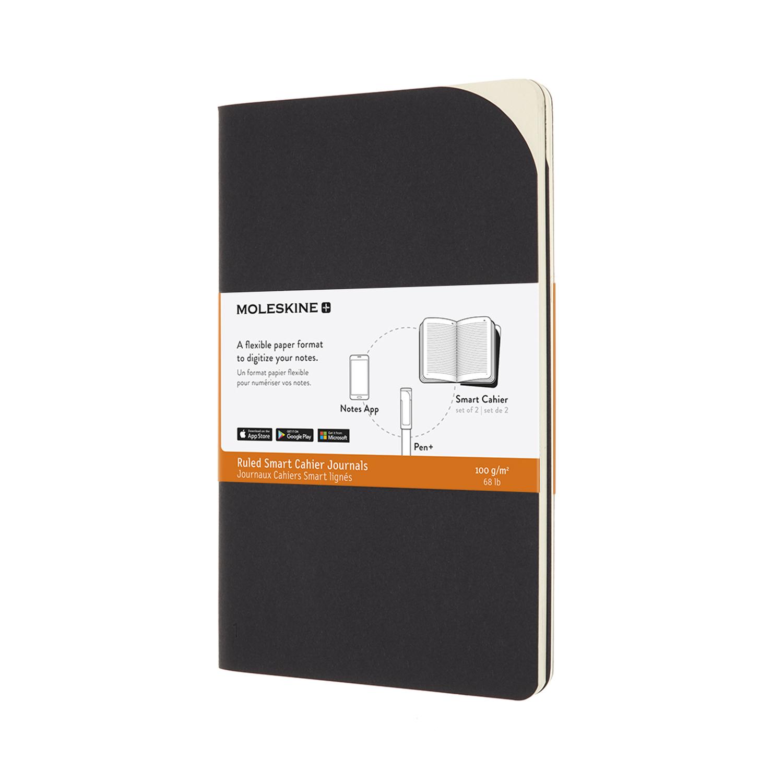 Записник Moleskine Paper Tablet Cahier (2 шт) середній / Лінійка Чорний