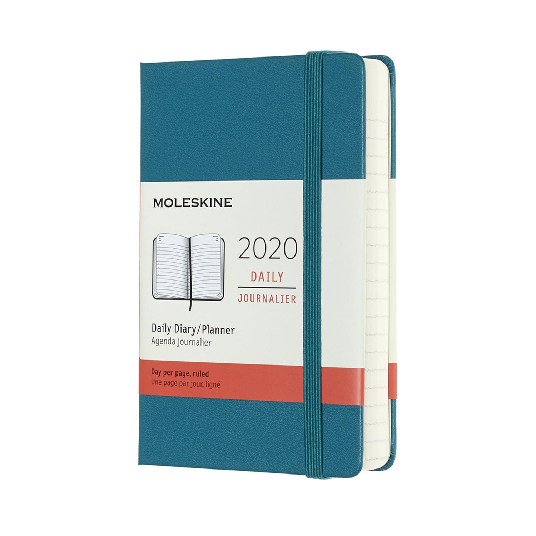 Щоденник Moleskine 2020 кишеньковий / Магнетичний Зелений