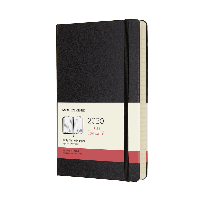 Щоденник Moleskine 2020 середній / Чорний