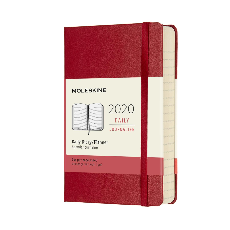 Щоденник Moleskine 2020 кишеньковий / Червоний