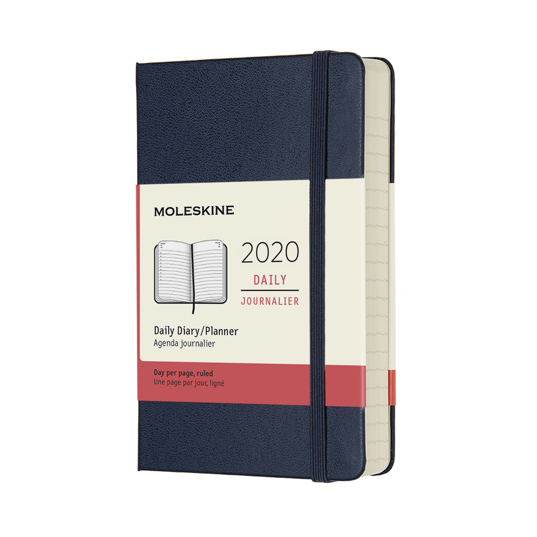 Щоденник Moleskine 2020 кишеньковий / Сапфір