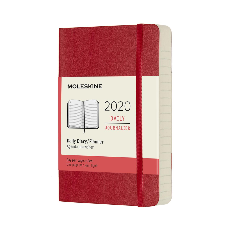 Щоденник Moleskine 2020 кишеньковий / Червоний М'який