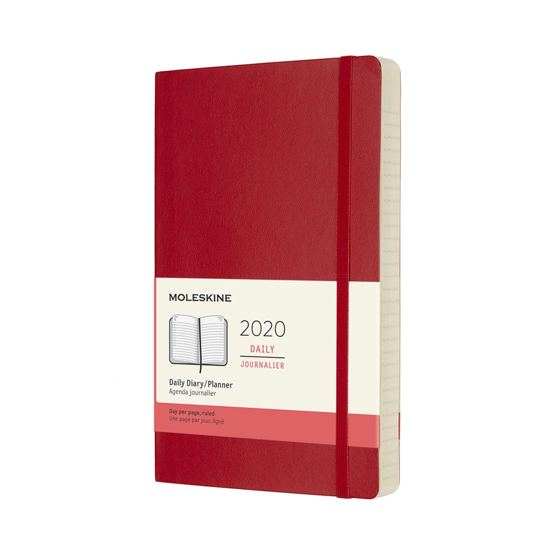 Щоденник Moleskine 2020 середній / Червоний М'який