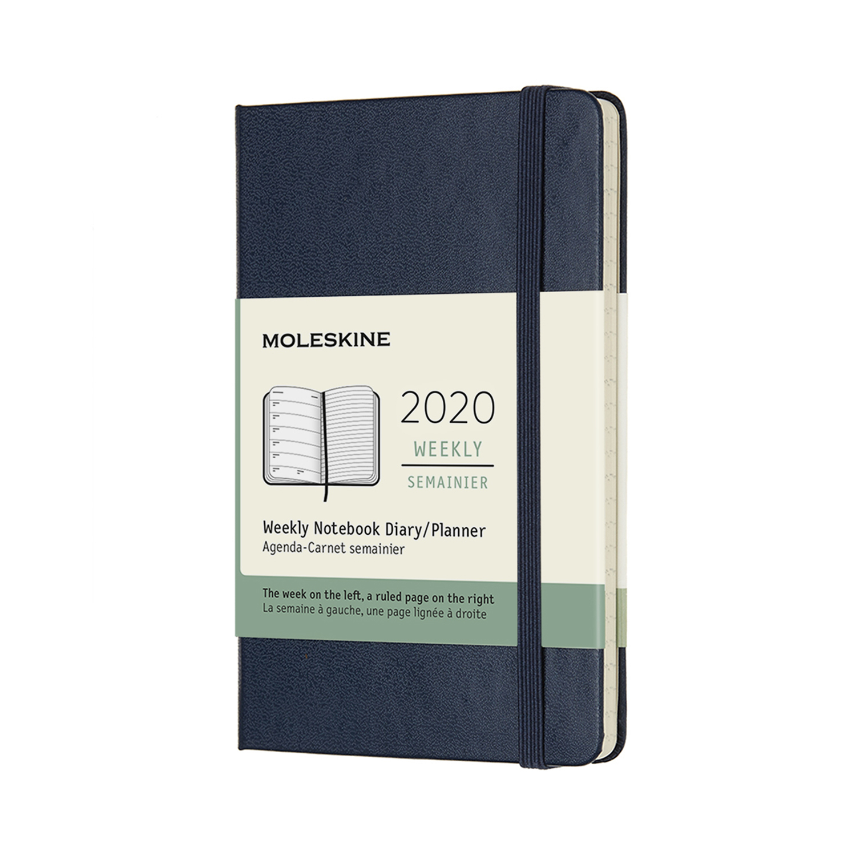 Щотижневик Moleskine 2020 кишеньковий / Сапфір